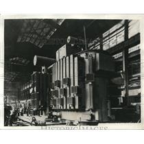 1931 Press Photo Giant Transformer In Electric Railroad Car Factory
