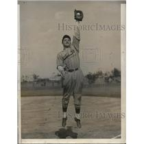 1931 Press Photo William Myers of St Louis Cardinals at Miami Fla - nes27092