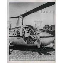 """1954 Press Photo """"Flyride"""" by Glenview Metal Prod Co, first flight from airport"""