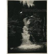 1925 Press Photo Stipper Falls Glacier National Park, Montana