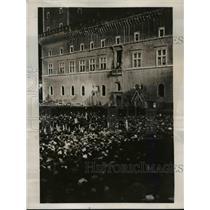 1937 Press Photo Failure of League of Nations Plazzo Venezia in Rome Speaking