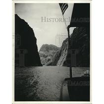 1930 Press Photo Black Canyon entrance of Colorado river, site of Boulder dam
