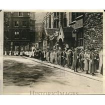 1926 Press Photo Mothers Union of England, procession approaching Westminister