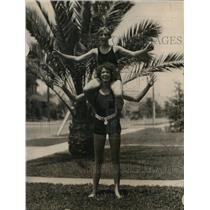 1925 Photo Marjorie & Mildred Lowe water team Hollywood Athletic Club