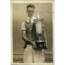 1923 Press Photo Dick Walsh wins Public Park Golf Tournament Standish Cup