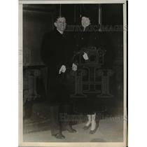 1930 Press Photo Will Hays with Mrs Jennie Herren Stutesman on hooneymoon, Wash.