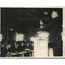 1924 Press Photo Memorial Lecture by Yusiko Tsurumi to Japanese Students Tokyo