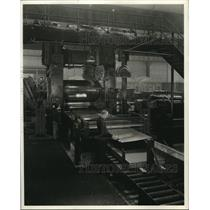 1938 Press Photo 84 Inch Temper Mill Imparts to Steel Sheets the Polished Finish
