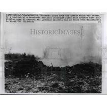 1950 Press Photo Smoke from Plane Crash in Indiana