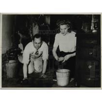 1936 Press Photo JulieHaataja, Recptionist U.S. Junior Commerce office Lasalle