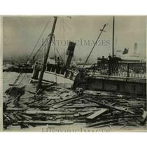 1930 Press Photo Dozens of vessels and fishing smacks sunk in Nagasaki Harbor.
