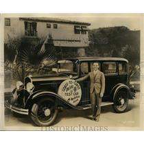 1931 Press Photo Pete De Paola Famous Race Driver & Holder of Record 500 Mile