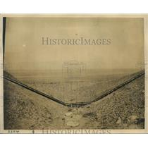 1922 Press Photo Aerial view of awater siphon project north of LA Calif