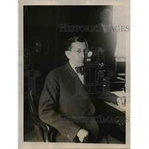 1921 Press Photo Will H Hays new postmaster general at desk in Washington