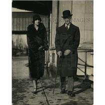 1925 Press Photo 2nd asst Sec of Italian Embassy Luciano Mascia & wife in DC
