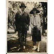 1917 Press Photo Emily Smith Daughter of Governor & Fiance Maj John Warner