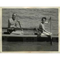 1935 Press Photo of Sen. William Gibbs McAdoo on his honeymoon in Hawaii.