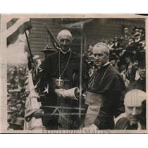 1919 Press Photo Archbishop Hayes & Mercier at St Patrick's Cathedral
