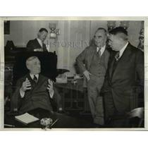 1937 Press Photo of Sen William H. McAdoo, Del. Samuel King, and John H. Wilson