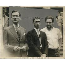 1926 Press Photo Mayor Walker, Harry Bork, JT Walsh Subway Strikers