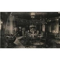 1920 Press Photo Dining room of W Browning home in NY