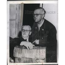 1945 Press Photo Former Nazi Party Treasurer Franz Xaver Scharz & Son Captured