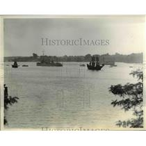 1934 Press Photo Opening the pageant replicas of ships bring colonists to MD.