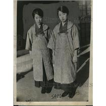 1924 Press Photo Twin daughters of Japanese Adm Prince Tushimi