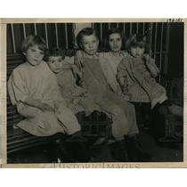 1923 Press Photo Five children of Kathleen Morrell Janet Alice Stanley Kathleen