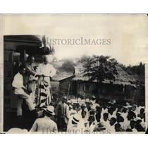 1923 Press Photo Governor General Leonard Wood Addressing Philippine Peolpe