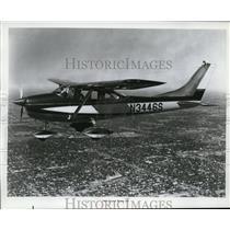 1965 Press Photo The 1965 Cessna Model 142 plane in flight