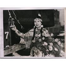 1937 Press Photo Talla-Wee-Tonk-Mi, Princess Cauuse Native American Tribe