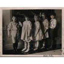 1921 Press Photo Kindergarten kids GAmour, M Baum. D Dickinson, L Monroe
