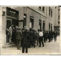 1930 Press Photo Strike breakers at NYC subway Lenox Ave branch - nex78685