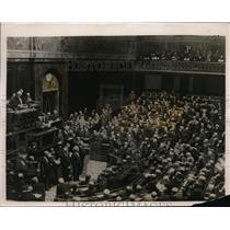 1926 Photo French National Assembly meets about Poineare's Sinking Fund