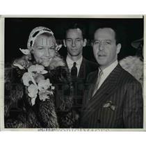 1929 Press Photo Alfred Nathan Jr., Railroad Supply Magnate marry Lyn Logan
