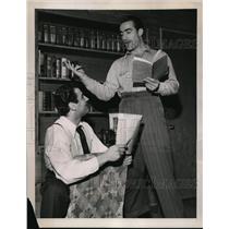 1941 Press Photo La Calif John Berardino St Louis Browns SS & Larry Mitchell act