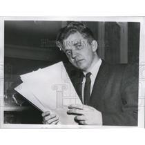 1956 Press Photo Wash Dc Aleksandr I Zinchuk press officer Russian embassy