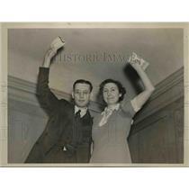 1938 Press Photo Henrietta Bruns 2nd Winner $50000 Cigarette Contest