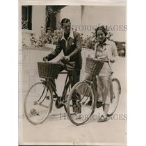 1936 Press Photo Mr and Mrs Howard Boulton Jr Honeymooning in Bermuda