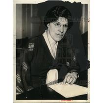 1933 Press Photo Eva Whiting White, President Women's Educational Union