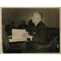 1938 Press Photo Roy P. Lonahan, New York Lawyer Tesifying About German Movements