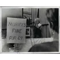 1968 Press Photo Mrs Muriel Humphrey - nee51008