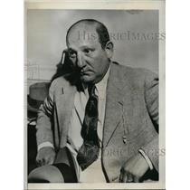1934 Press Photo Arthur Bennett International Vice President Brotherhood Electri