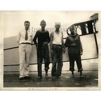 1933 Press Photo Pilot Vernon Dorell, OB McNeil, Morris Green, CE Clive