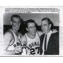 1960 Press Photo Tom Marshall Dave Piontek Jack Twyman Cincinnati Royals