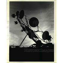 1984 Press Photo Amusement Park Rides