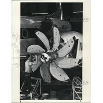 1987 Press Photo Engines Propfan