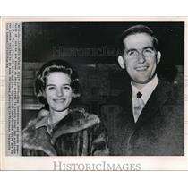 1964 Press Photo King Constantine and wife Queen Anne Marie