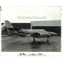 1986 Press Photo Merlin III B Aircraft on display at Hopkins Aviation